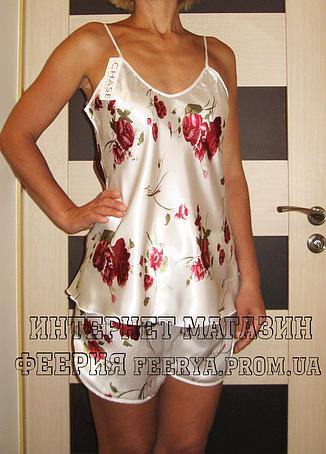 Атласная пижама FLOWER  (40 размер,  размер S ), фото 2