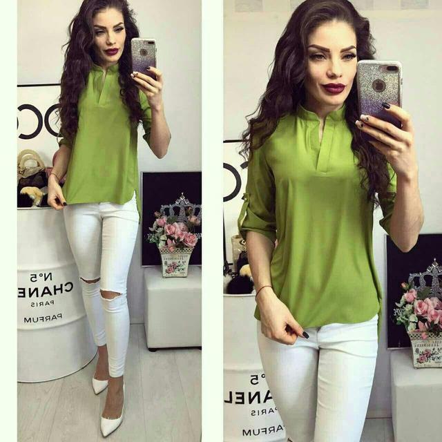 Блуза женская, модель 749, цвет - оливка