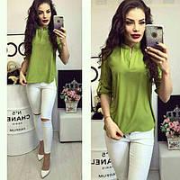 Блуза женская, модель 749, цвет - оливка, фото 1