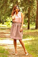 Женский топ и юбка с вышивкой