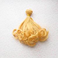 Волосы для кукол волнистые концы в трессах, золотой блонд  - 15 см