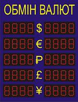 Электронное табло обмена валют