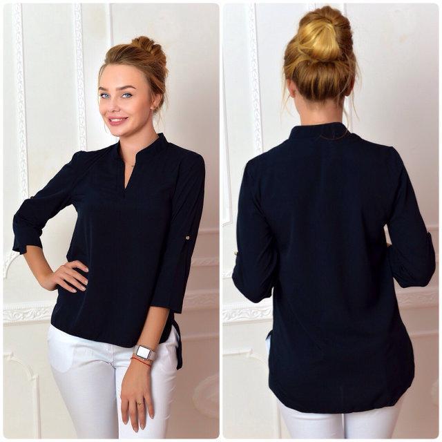 Блуза женская, модель 749, цвет - темно синий