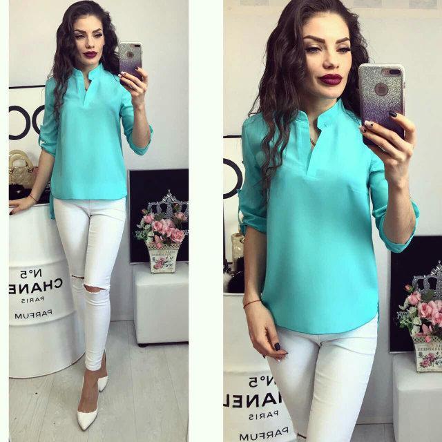 Блуза женская, модель 749, цвет - бирюзовый