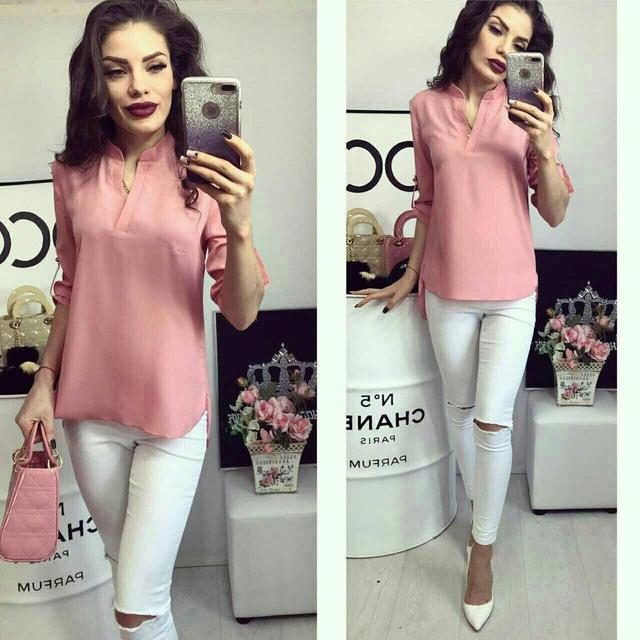 Блуза женская, модель 749, цвет - розовый