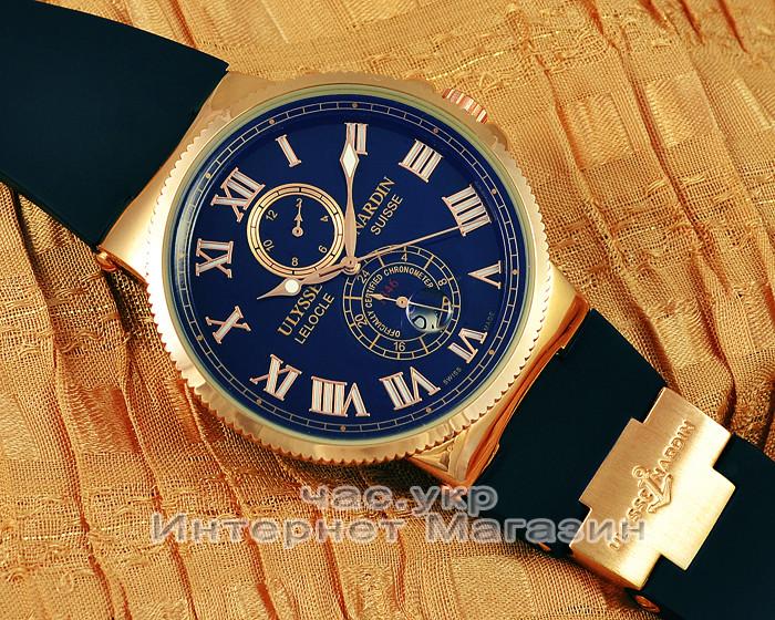 Ulysse Nardin Maxi Marine Chronometer копия Blue Gold механика Улис Нардин 878885f8b8e