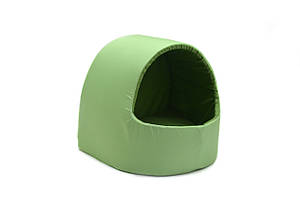 Будка для котов и собак Эконом зеленая