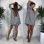 Женское стильное платье хлопок свободного кроя (3 принта), фото 2