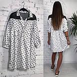 Женское стильное платье хлопок свободного кроя (3 принта), фото 3