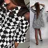 Женское стильное платье хлопок свободного кроя (3 принта), фото 4