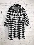 Женское стильное платье хлопок свободного кроя (3 принта), фото 6