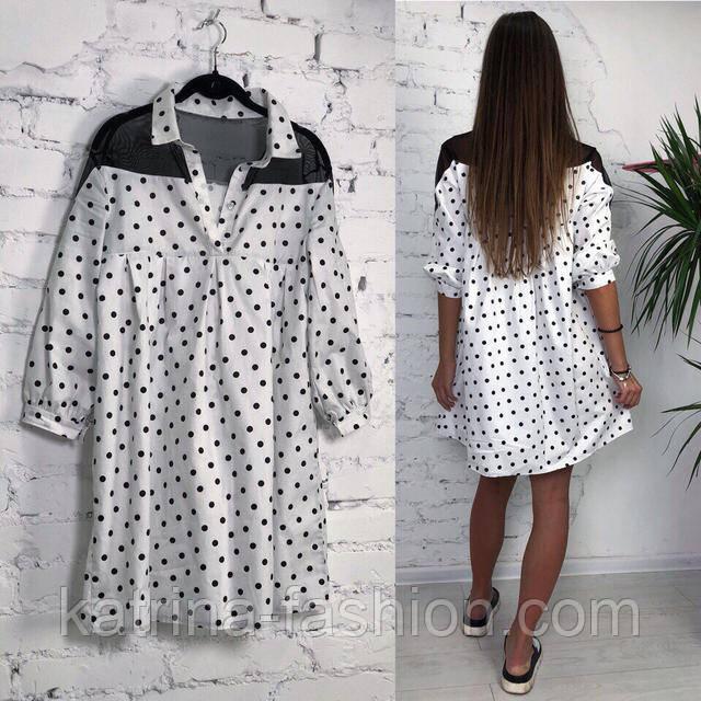 d190bd466c7 Женское стильное платье хлопок свободного кроя (3 принта)