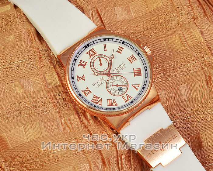 Женские наручные часы Ulysse Nardin Quartz Maxi Marine Chronometer Lady White реплика кварц класика