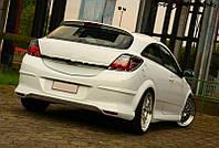 Спойлер козырек тюнинг Opel Astra H GTC стиль OPC