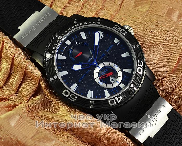 Мужские наручные часы Ulysse Nardin Maxi Marine Diver Titanium 263-90-3 72  реплика AAA качество e831b944572