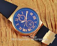 Мужские наручные часы Ulysse Nardin Quartz Maxi Marine Chronometer Gold Blue реплика, фото 1