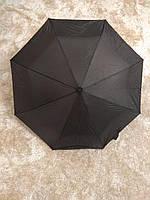 Черный складной зонт Krispils (круглая ручка)