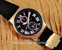 Мужские наручные часы Ulysse Nardin Quartz Maxi Marine Chronometer Gold Black не оригинал, фото 1