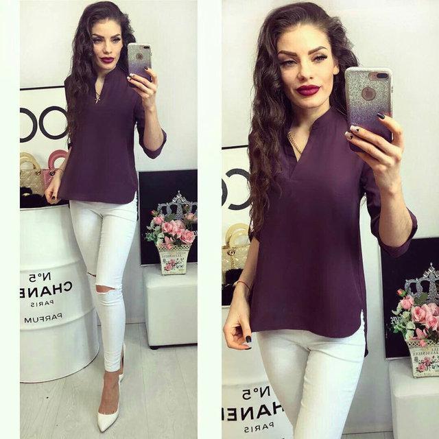 Блуза женская, модель 749, цвет - сливовый