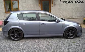 Спойлер козырек тюнинг Opel Astra H