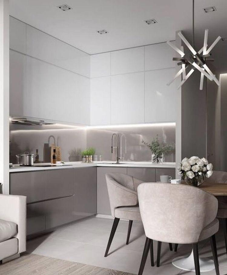 Кухня бело серая глянцевая лучшее сочетание цветов