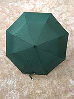Зеленый складной зонт Krispils с серебром внутри (круглая ручка)