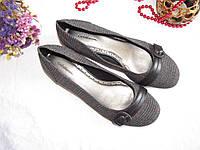 Туфли балетки Croft&Barrows оригинал 38,5 Серый + Черный (08102), фото 1