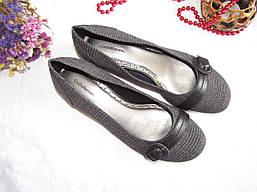 Туфли балетки Croft&Barrows оригинал размер 38,5 серые 08102