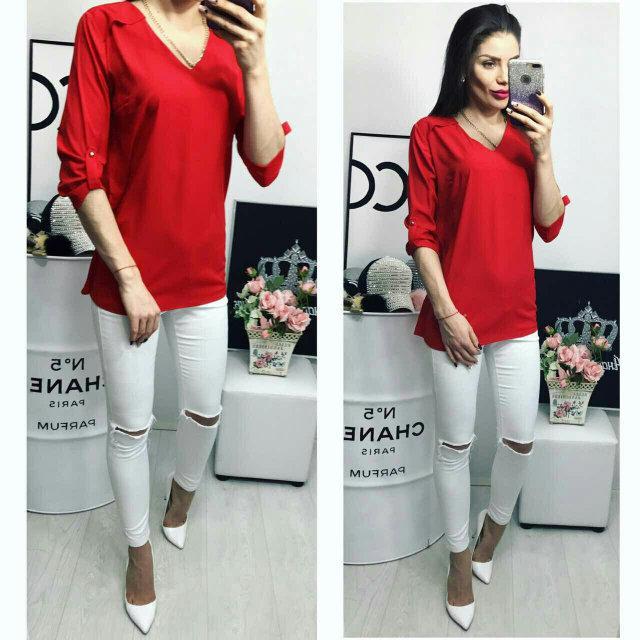 Блуза женская, модель 775, цвет - красный