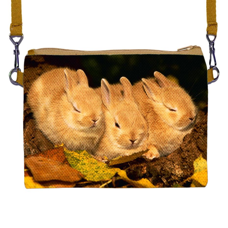 Сумка Moderika Happy Сhild коричневая с рисунком Кролики (88005)