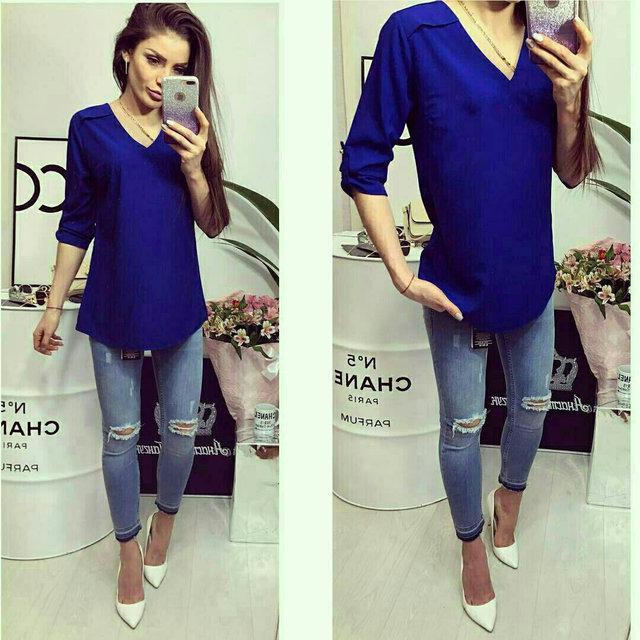 Блуза женская, модель 775, цвет - электрик