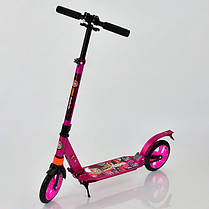 Двухколесный самокат алюминиевый Best Scooter 692. 2 амортизатора. колеса полиуретановые, , фото 3
