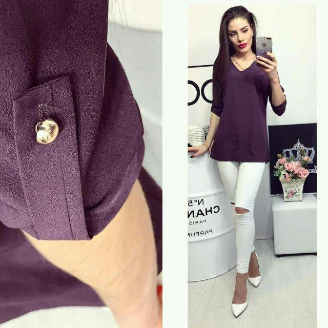 Блуза женская, модель 775, цвет - сливовый