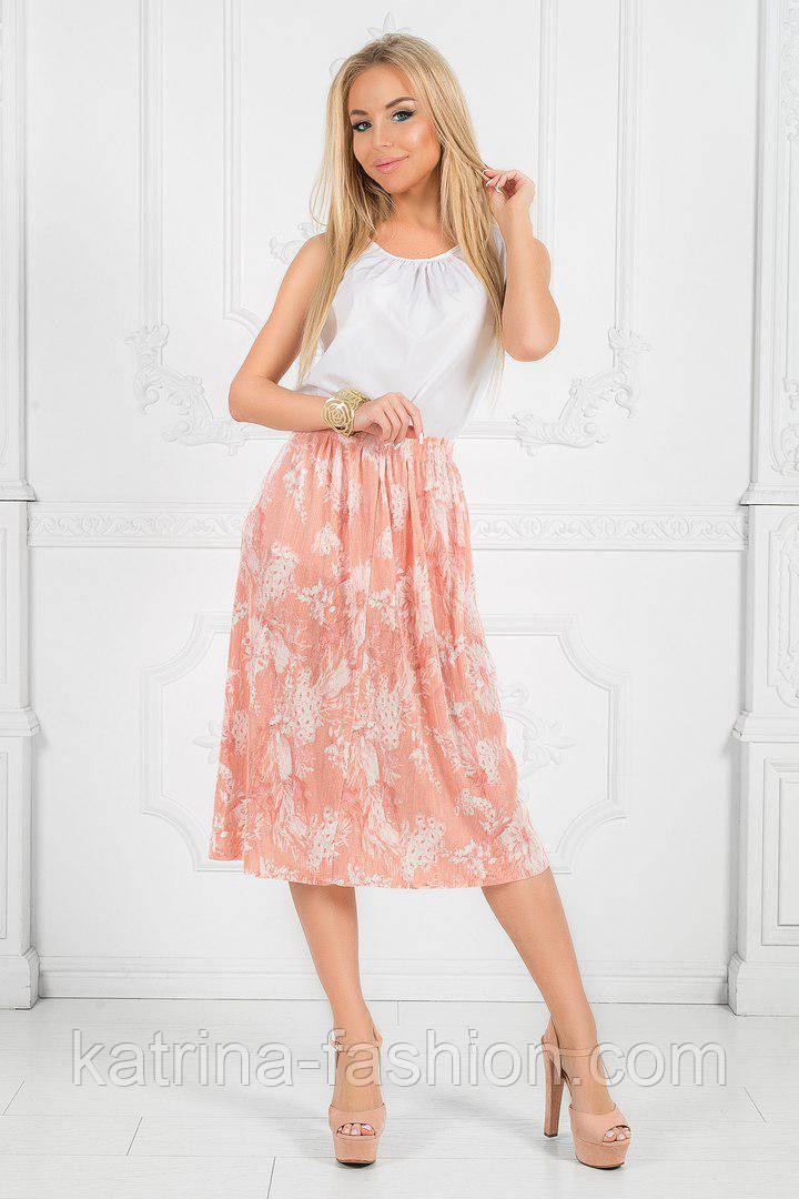 Женское стильное платье с цветочным принтом (3 цвета)