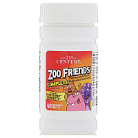 Мультивитамины для детей 21st Century, Zoo Friends, 60 жевательных таблеток