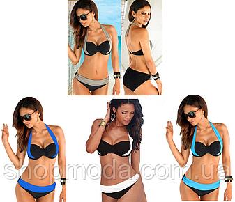 Раздельный купальник женский модный с push-up пуш ап., фото 2
