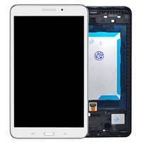 Дисплей (экран) для Samsung T330 Galaxy Tab 4 8.0, версия Wi-Fi + тачскрин, белый, с передней панелью