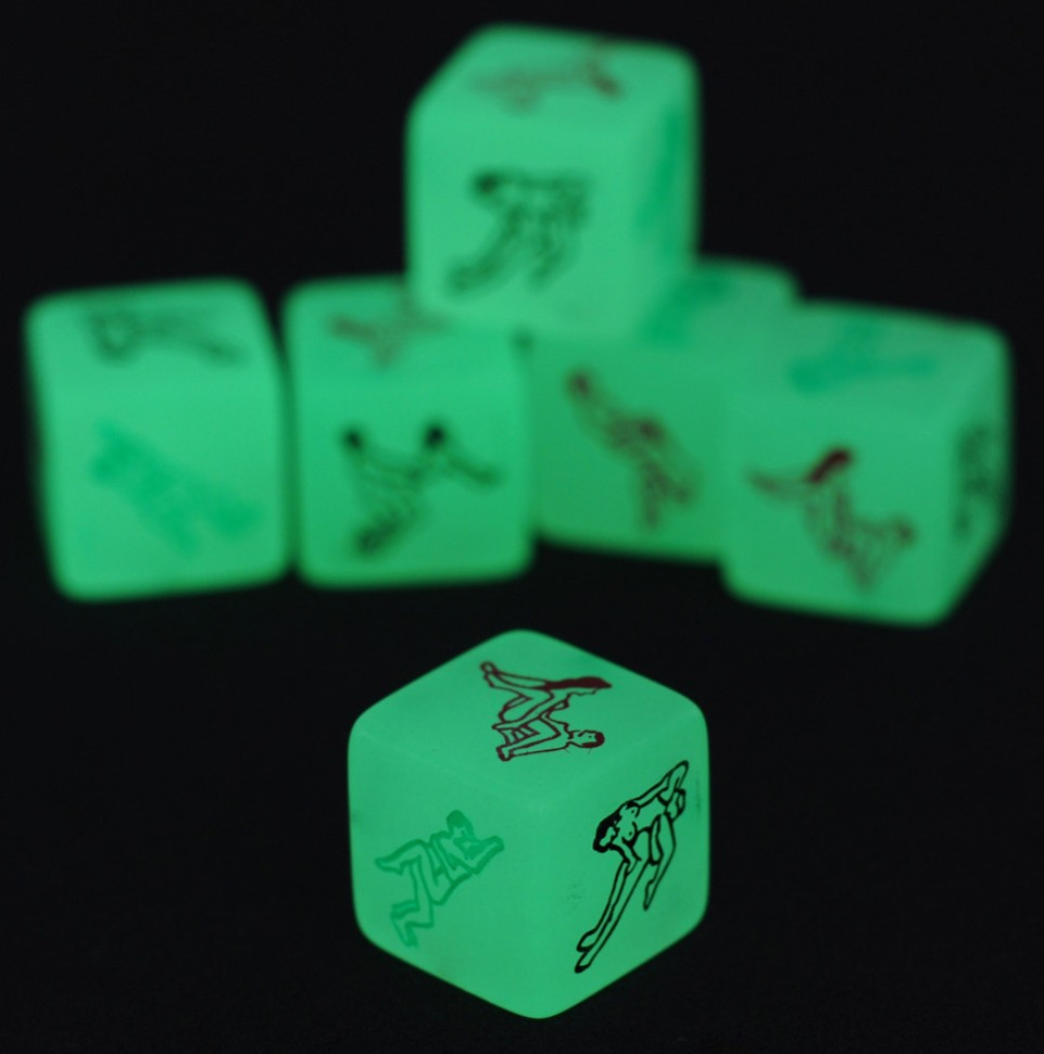 Неоновый кубик с позами