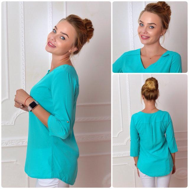 Блуза женская, модель 775, цвет - бирюзовый