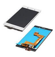 Дисплей (экран) для Sony E2303 Xperia M4 Aqua/E2306/E2312/E2333/E2353/E2363 + тачскрин, белый, оригинал