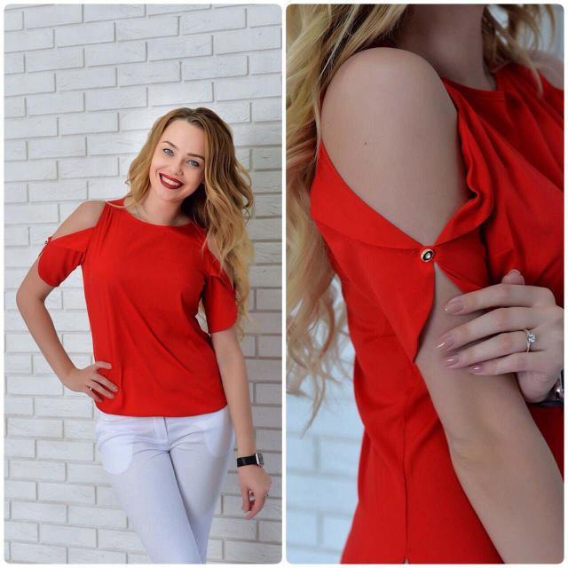 Блуза женская, модель 901, цвет - красный