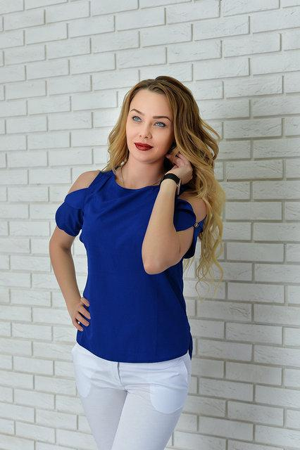 Блуза женская, модель 901, цвет - электрик