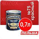 Hammerite Хаммерайт 3в1 Червоний гладкий фарба для металу 5,0 лт, фото 3