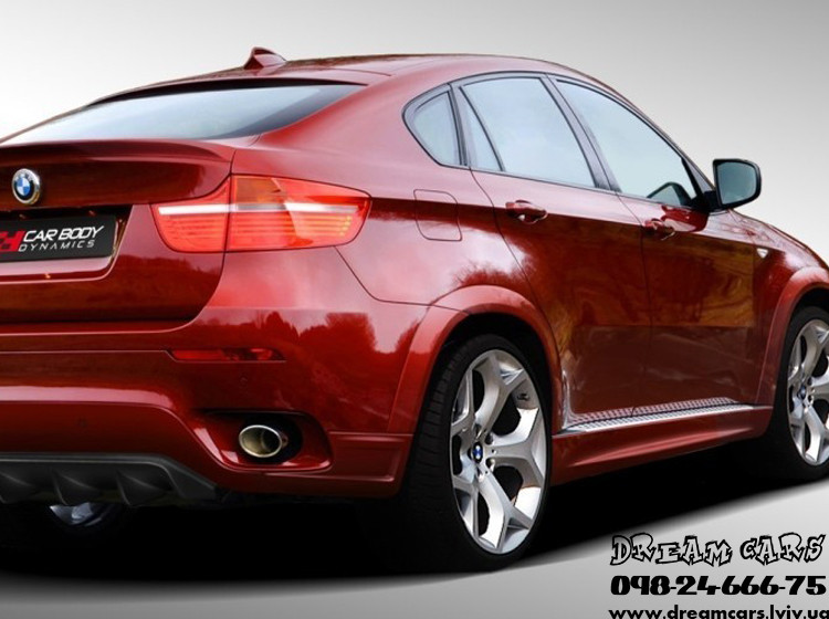 НАКЛАДКИ НА ПОРОГИ ПЛАСТИКОВЫЕ BMW X6