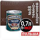Hammerite Хаммерайт 3в1 Темно-коричневый Гладкий Полуматовый  5,0лт, фото 3