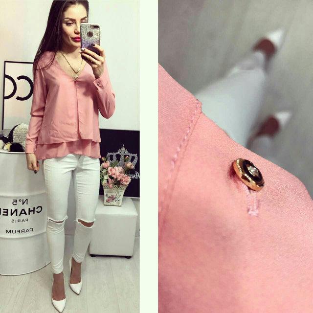 Блуза женская, модель 777, цвет - розовый