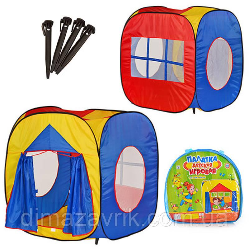 Палатка M 0507 куб, 105-100-105 см, вход с занавеской, 3 окна-сетка, в сумке