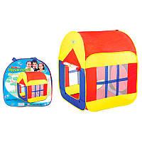 Палатка M 1440 куб, 85-85-110 см, 2 вх-на липуч,  (1 вход - сетка), 2 окна - сетка, в сумке 38-38-5 см