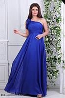 Платье на выпуск длинное на одно плече масло+атлас+шифон 42-46, фото 1