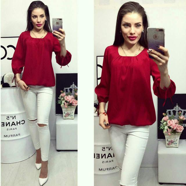 Блуза женская, модель 776, цвет - вишневый